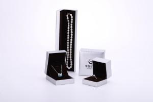 ZTB-086 plastic jewelry box with diamond pattern effect